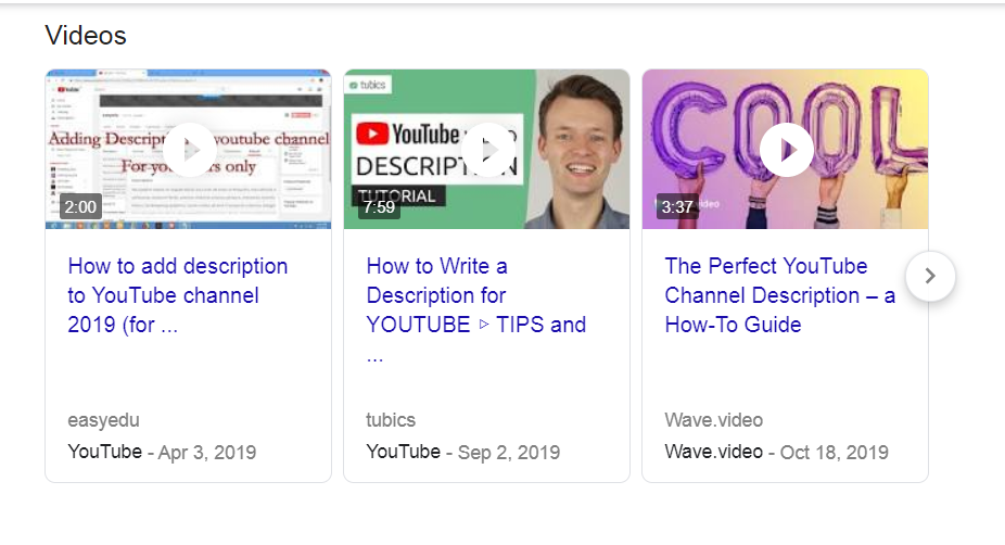 optimize videos for google