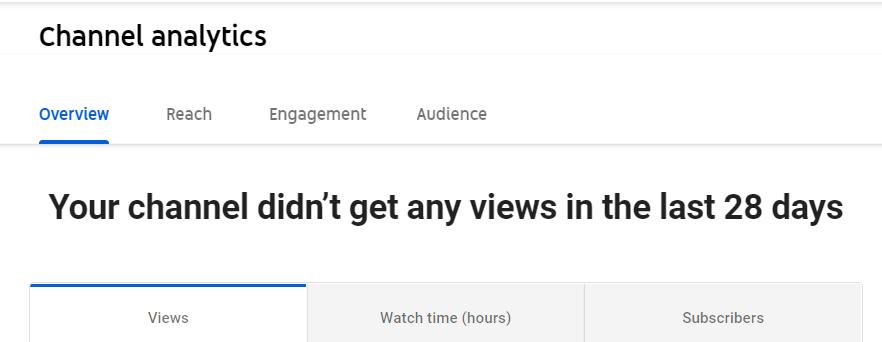 view the channel analytics